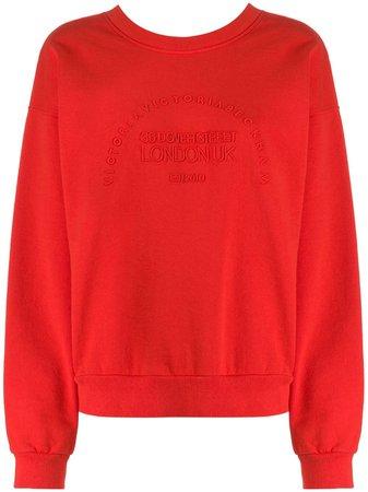 Victoria Victoria Beckham Heritage Embroidered Sweatshirt Ss20   Farfetch.com