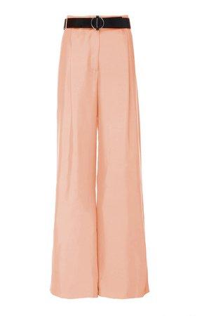 Belted Silk-Satin Wide-Leg Pants By Lapointe   Moda Operandi
