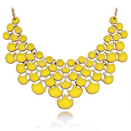 Statement Necklaces Yellow: Amazon.com