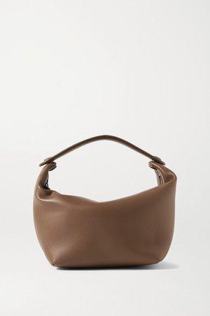 Les Bains Mini Leather Tote - Light brown