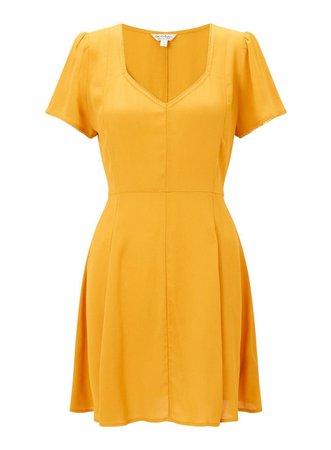 Ochre Skater Tea Dress - View All - Dress Shop - Miss Selfridge