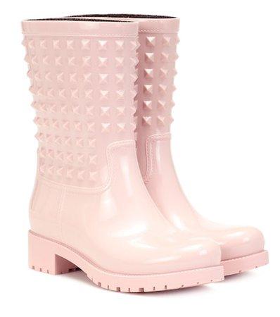 Valentino Garavani rubber rain boots