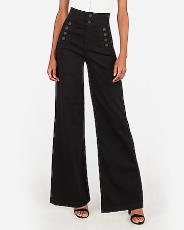 Super High Waisted Sash Tie Wide Leg Jeans | Express