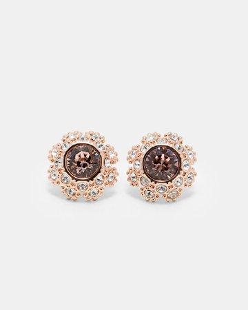 Swarovski® daisy lace earrings - Pink | Jewellery | Ted Baker UK