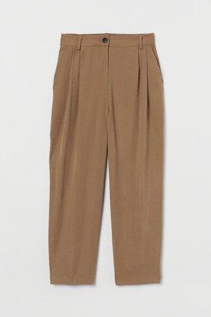 Pantalon habillé tissu croisé - Beige foncé - FEMME | H&M CA