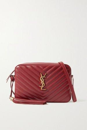 Claret Lou quilted leather shoulder bag | SAINT LAURENT | NET-A-PORTER