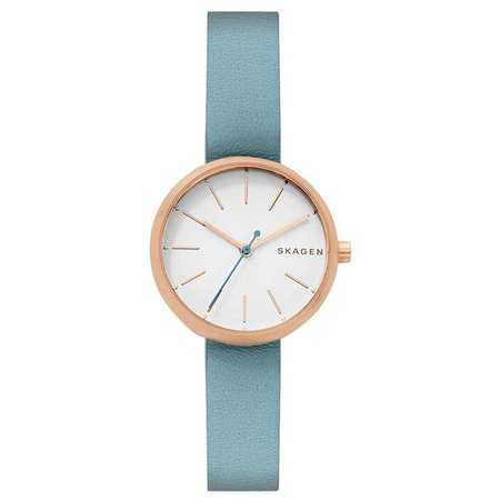 Skagen Blue Leather Women's Watch