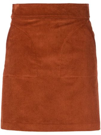 A.P.C. suede mini skirt