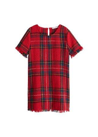 MANGO Plaid tweed dress
