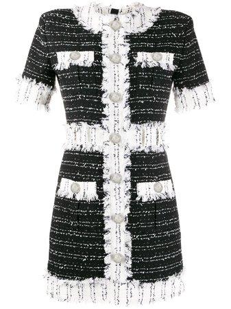 Balmain Tweed Short-sleeved Dress