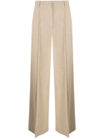 Shop Nanushka wide-leg cotton trousers with Express Delivery - Farfetch