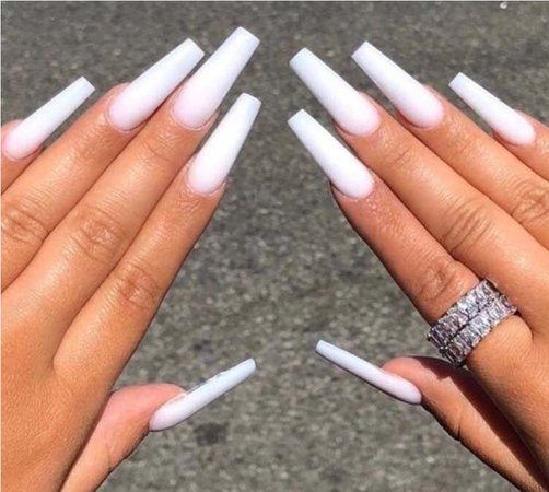 long white nails