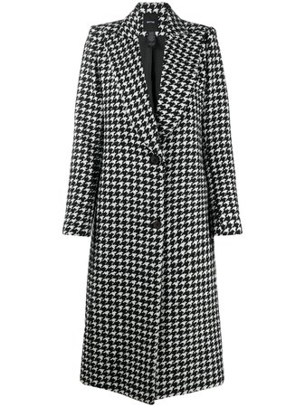Shop white & black Smythe Houndstooth coat with Express Delivery - Farfetch