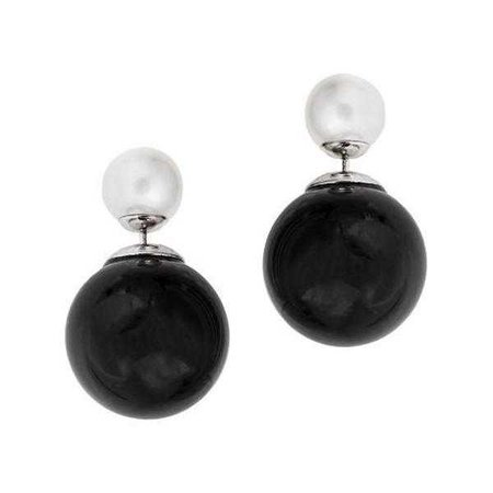 Fashiontage - Black Stud Earring - 938132111421