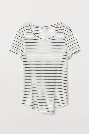 Round-neck T-shirt - White