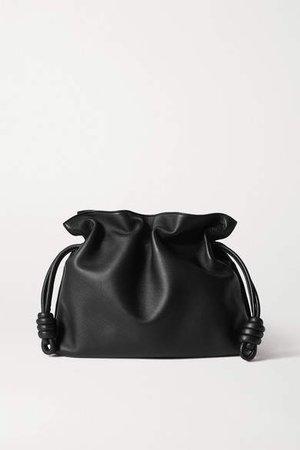 Flamenco Leather Clutch - Black