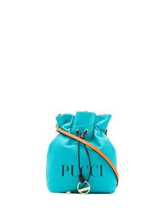 Emilio Pucci Aqua Blue Canvas Logo Mini Bag $530 - Buy Online SS19 - Quick Shipping, Price