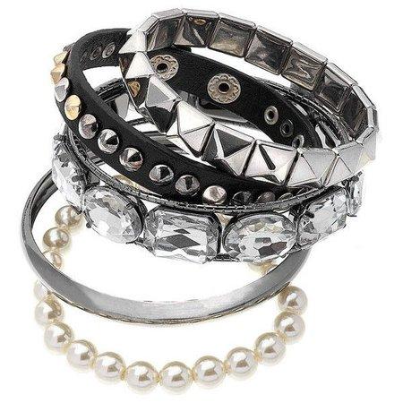 Black Goth Bracelet Set