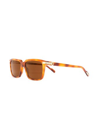 Cartier Eyewear C De Cartier rectangular-frame Sunglasses - Farfetch