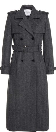 Redemption Wool Twill Double-Breasted Trench Coat