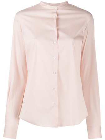 Aspesi long-sleeved band-collar Shirt - Farfetch