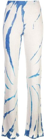 Cyclone Dyed Silk Flared Trousers