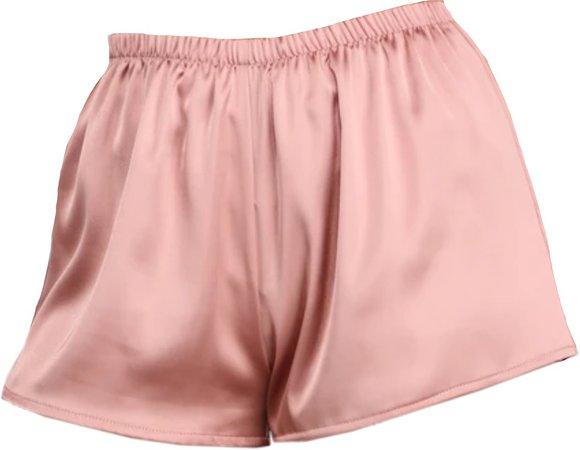 pink satin pj shorts (Windsor)