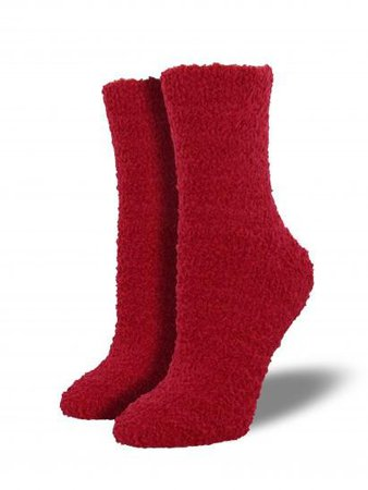 Cozy Socks - Women's Warm Fuzzy Socks, Solid Crew | Joy Of Socks