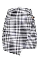Monochrome Check Wrap Mini Skirt | Skirts | PrettyLittleThing USA