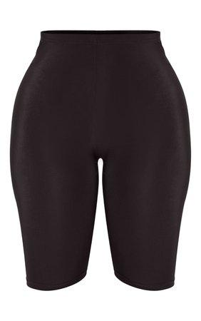 Shape Black Sheer Slinky bike Shorts | PrettyLittleThing USA