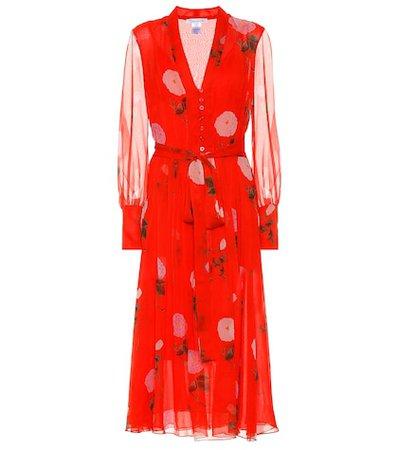 Floral silk-georgette dress