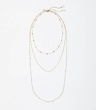 Metallic Layered Necklace | LOFT