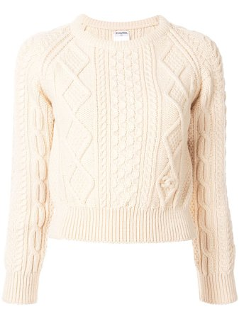 Chanel Pre-Owned Cable Knit Sweater - Farfetch