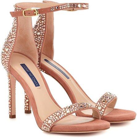 Nudistsong embellished sandals