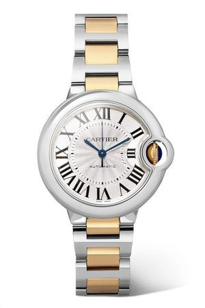 Cartier | Ballon Bleu de Cartier 33mm 18-karat gold and stainless steel watch | NET-A-PORTER.COM