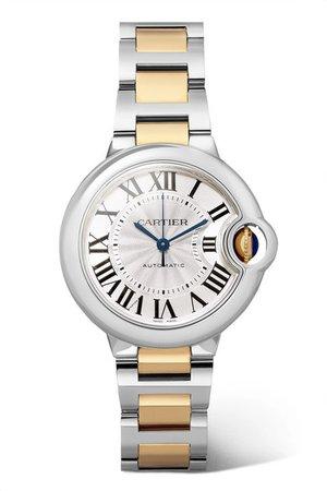Cartier | Ballon Bleu de Cartier 33mm 18-karat gold and stainless steel watch | NET-A-PORTER.COM