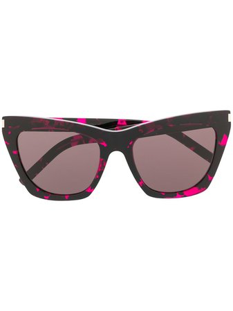 Saint Laurent Eyewear SL214 square-frame Sunglasses - Farfetch