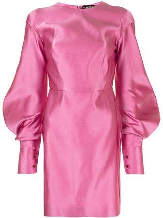 TOM FORD puff-sleeve duchesse-silk minidress - FARFETCH