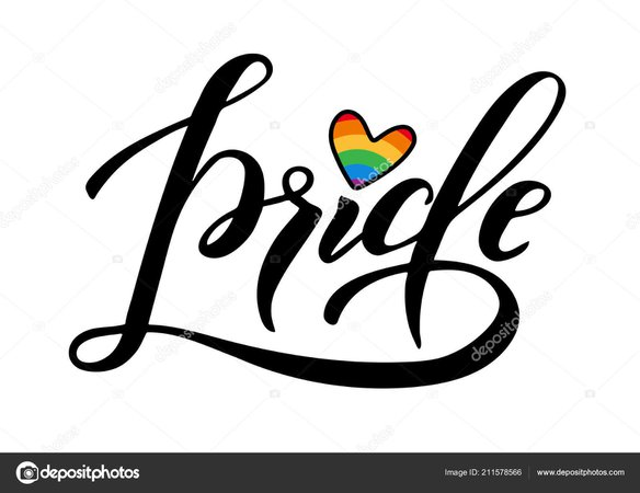 Hand Written Pride Lettering Rainbow Gay Parade Slogan Lgbt Rights — Stock Vector © DandelionFly #211578566