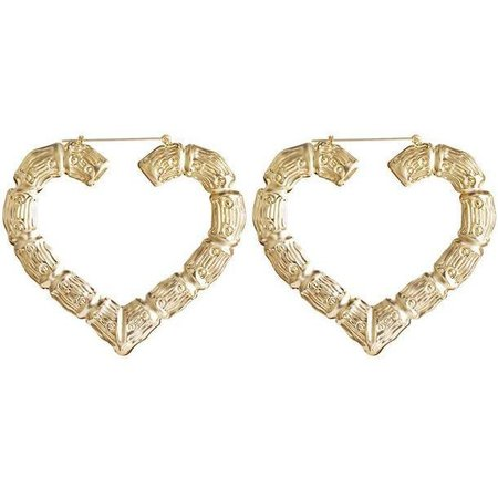 Bamboo Heart Hoop Earrings - Own Saviour