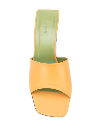 BY FAR slip-on low-heel Mules - Farfetch