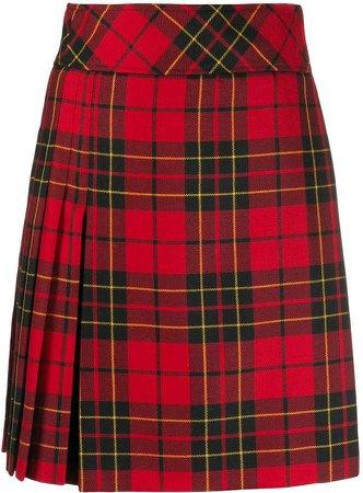tartan short skirt