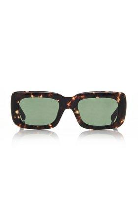 Attico x Linda Farrow Marfa Acetate Square Sunglasses