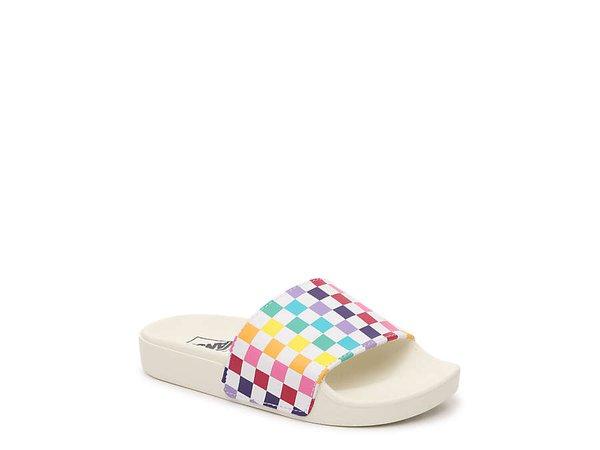 Vans Slide One Jr Check Slide Sandal - Kids' Kids Shoes | DSW