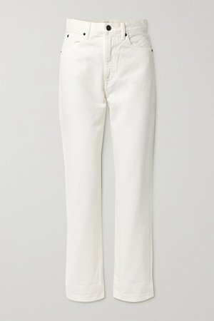 White Dakota high-rise straight-leg jeans | SLVRLAKE | NET-A-PORTER