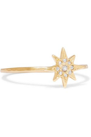CHAN LUU Gold-plated diamond ring