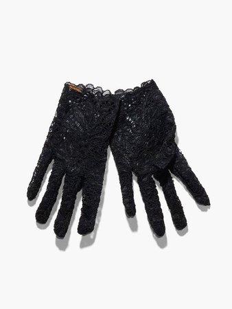 Lady Fingers Lace Gloves (XS-XL) in Black   SAVAGE X FENTY
