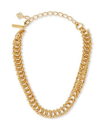 Oscar de la Renta Tubular Braid Chain Necklace | Neiman Marcus
