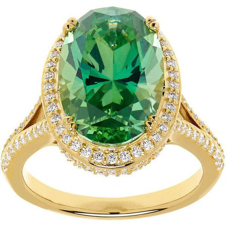 Emerald-Gold Diamond Ring