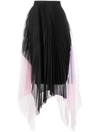 Iceberg Pleated Asymmetric Skirt - Farfetch